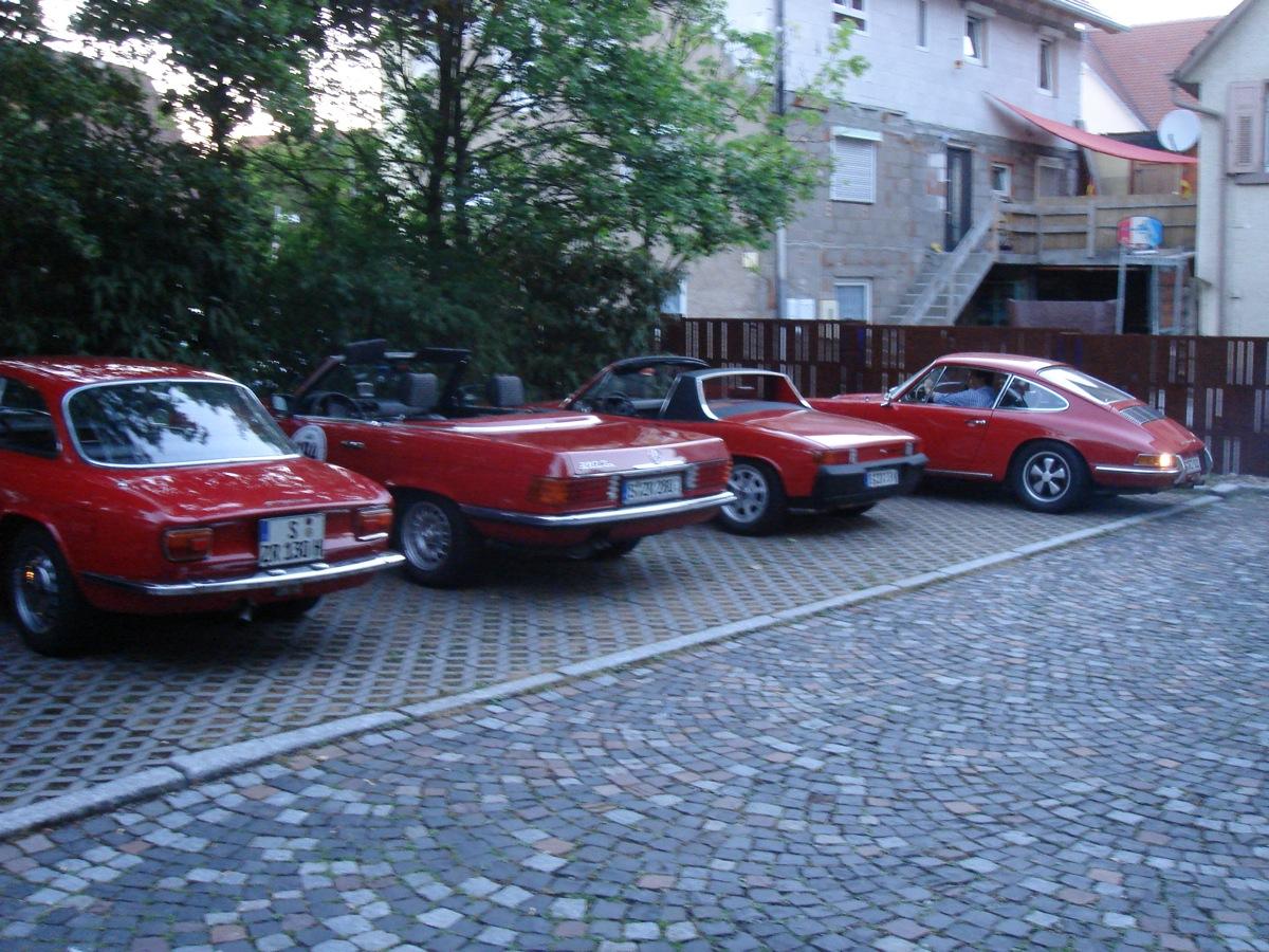 Porsche 911T, Porsche 914, Mercedes 280SL, Alfa GT Junior